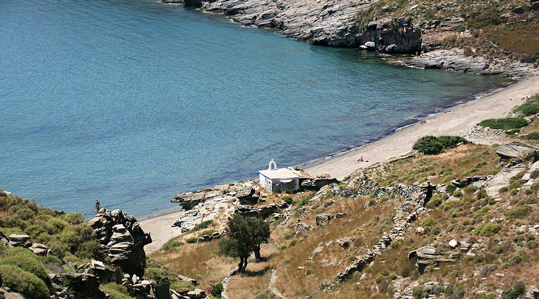 Chalkilimnionas beach, Andros Greece